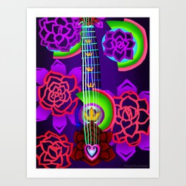 Fusion Keyblade Guitar #168 - Overdrive & Divine Rose Art Print