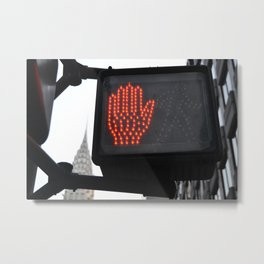 NY Traffic Light Metal Print