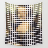 mona lisa Wall Tapestries featuring Mona Lisa by Alisa Galitsyna