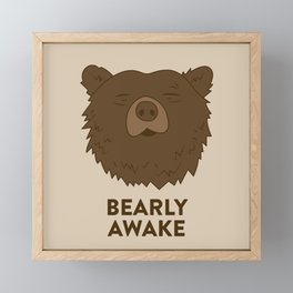 BEARLY AWAKE Framed Mini Art Print