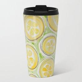 Lemons (Green/Lined) Travel Mug