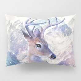 Fairy deer in the mountains Pillow Sham