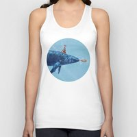 party Tank Tops featuring Party Whale  by Terry Fan