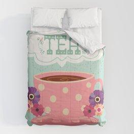 Tea Is A Hug In A Cup Comforters