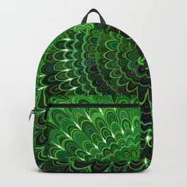 Green Flower Mandala Backpack