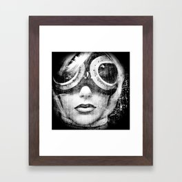 Cosmic rays were relentlessly bombarding the planet ... Fall fashion was in full swing Framed Art Print