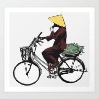 vietnam Art Prints featuring Vietnam by Ryan Ly