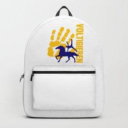 Voltigieren Gymnast Horse Balancing Acrobats Gift Backpack