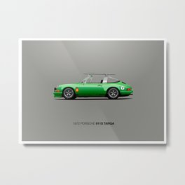 1972 Porsche 911S Targa Metal Print