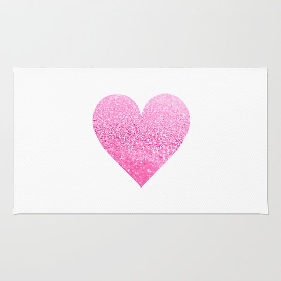 PINK HEART Rug By Monika Strigel®