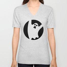 ghosty black Unisex V-Neck