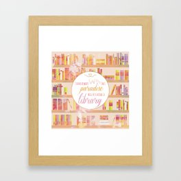 I HAVE ALWAYS IMAGINED Framed Art Print