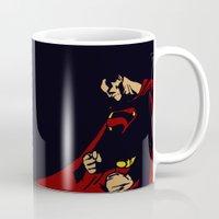 man of steel Mugs featuring Man of Steel by Digital Sketch