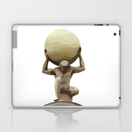 Man with Big Ball Illustration white Laptop & iPad Skin