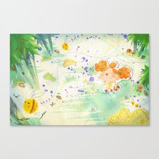 Mushroom hunt_panorama Canvas Print