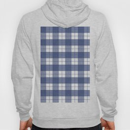 Blue and White Buffalo Plaid Hoody