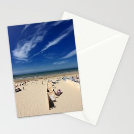 On the beach, blue sky Stationery Cards