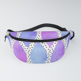 Periwinkle Watercolour Scales Fanny Pack