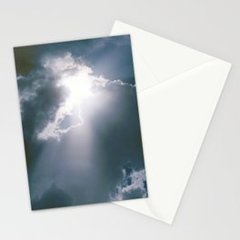 Sunburst of Light Parting the Clouds Stationery Cards