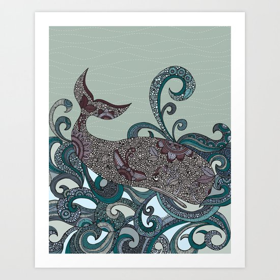 Deep Blue Me Art Print