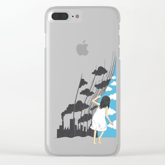 Hey Mr. Blue Sky Clear iPhone Case