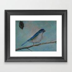 Hello Birdie! Framed Art Print