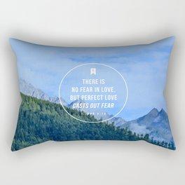 1 John 4:18 Rectangular Pillow