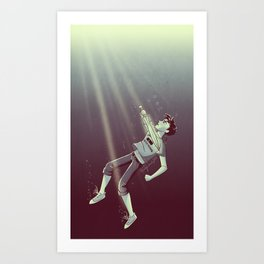 Son of the Sea God Art Print