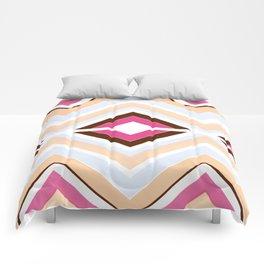 Mod stripes in raspberry Comforters