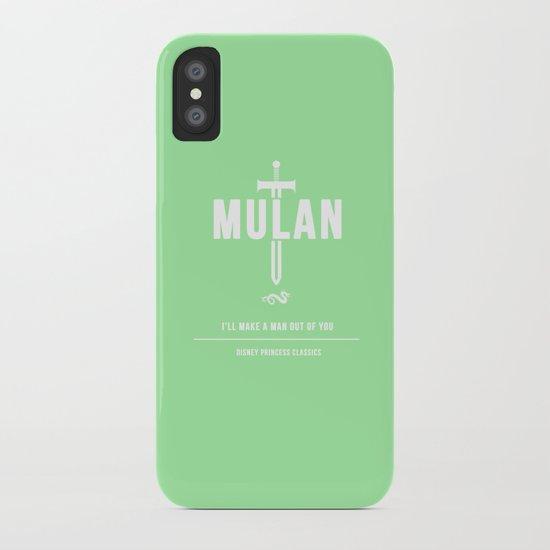 Disney Princesses: Mulan Minimalist iPhone Case