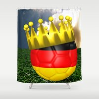 world cup Shower Curtains featuring World Cup Champion 2014 by Littlebell