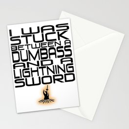 A Dumbass and a Lightning Sword Stationery Cards