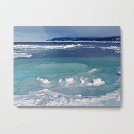 Snow and Ice pool Metal Print