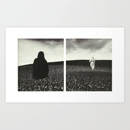 Ghost Diptych Art Print