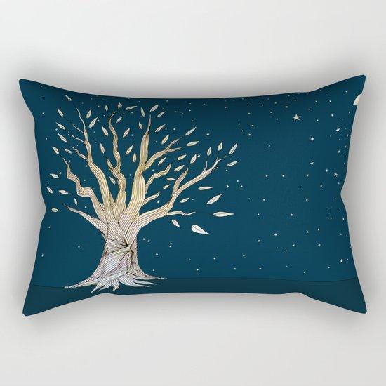 Moonlit Tree Rectangular Pillow