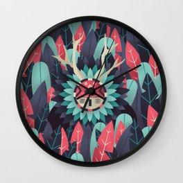 Hidden shaman Wall Clock