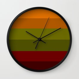 Cool Autumn Leaves - Color Therapy Wall Clock