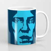 christopher walken Mugs featuring Walken by Aaron Synaptyx Fimister