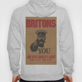 Vintage British First World War Poster - Kitchener Wants You to Join your Country's Army (1914) Hoody