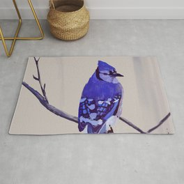 Blue Jay Bird Rug