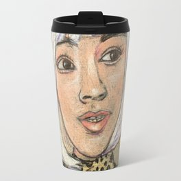 Leopard skin and gold dots Travel Mug