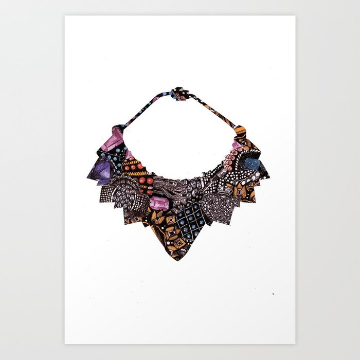 Cartier Necklace Art Print