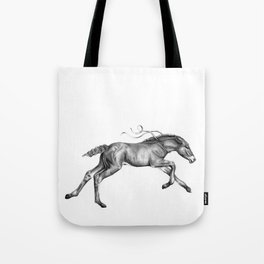Contra viento /Running horse Tote Bag