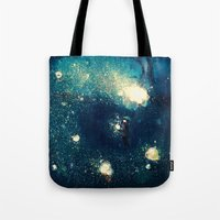 fireflies Tote Bags featuring Fireflies by Morgan Ofsharick - meoillustration