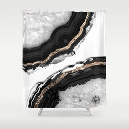 Agate Glitter Glam #2 #gem #decor #art #society6 Shower Curtain