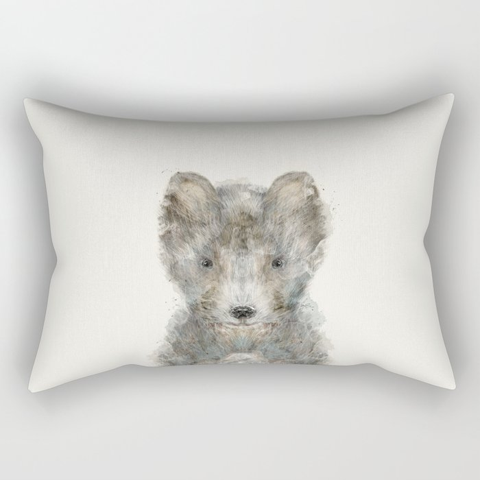 little grey wolf Rectangular Pillow