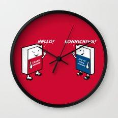 Say Hello Wall Clock