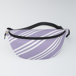 Lavender Large Small/Small Stripes Fanny Pack