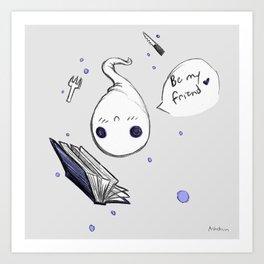 Be my Friend Art Print