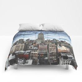 empire state building skyline Comforters